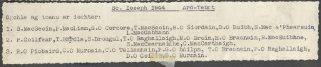 List of Names, 1944