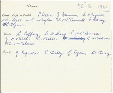 1945 Hurling Names
