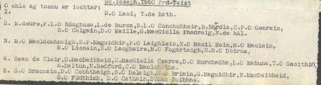 Class List, 1950