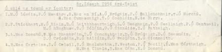 Class List of 1956