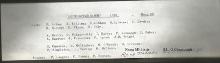 Class List of 1970 6B