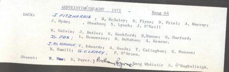 Class List, 1971 6A