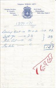 1971 Sample of School Letterhead Paper
