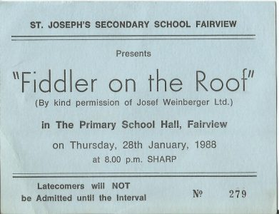 Fiddler on the Roof Ticket