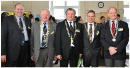 Presidents of Past Pupil Unions of St. Josephs, O'Connells, North Brunswick Street, Synge Street and Westland Row.