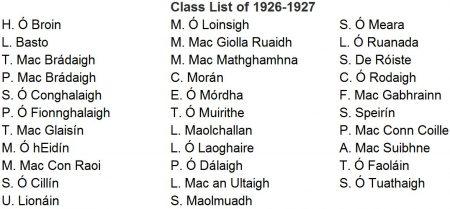 Class List 1926-1927