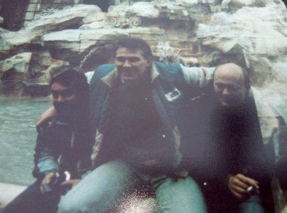 Aidan Giblin, Christy Oonan and Alan Buffini. Taken in Rome, school tour 1987. Photo provided by Derek Moran
