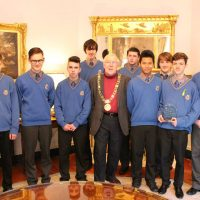 Winning All-Ireland Debating Team visits The Lord Mayor