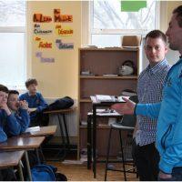 Jack McCaffrey Visits School for Seachtain na Gaeilge