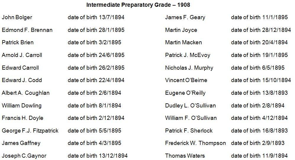 Prepatory Grade 1908