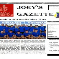 The Joey's Gazette Has Arrived!