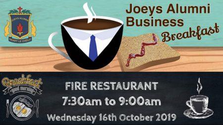 St. Josephs CBS Fairview first Business Networking Breakfast – Fire Restaurant, Wed, 16th Oct 2019