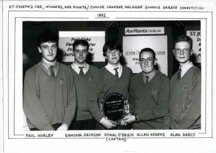 Winners of Junior Chamber Malahide Schools Debate, 1992