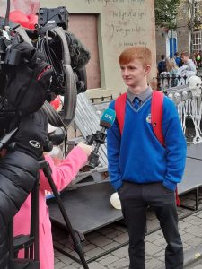 TY students on RTE news for The Big Scream